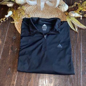 Men's Adidas black 1/4 zip jacket size large  NWOT